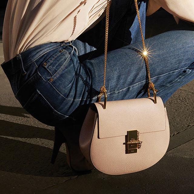 Chloe Drew mini bag cement pink