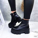 Женские ботинки кожаные Зима 13484, фото 2