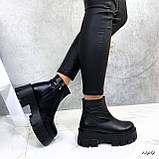 Женские ботинки кожаные Зима 13484, фото 3