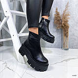 Женские ботинки кожаные Зима 13484, фото 4