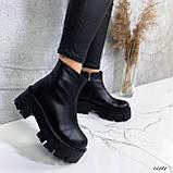 Женские ботинки кожаные Зима 13484, фото 5