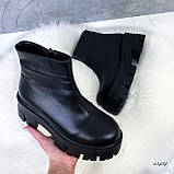 Женские ботинки кожаные Зима 13484, фото 6