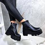 Женские ботинки кожаные Зима 13484, фото 7