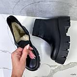 Женские ботинки кожаные Зима 13484, фото 8
