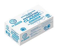 Перчатки латексные припудренные смотровые не стерильные р.L Dr.White Classic