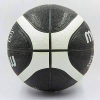 Мяч баскетбольный Composite Leather №7 MOLTEN B7D3500-KS (черный-белый) Код B7D3500-KS