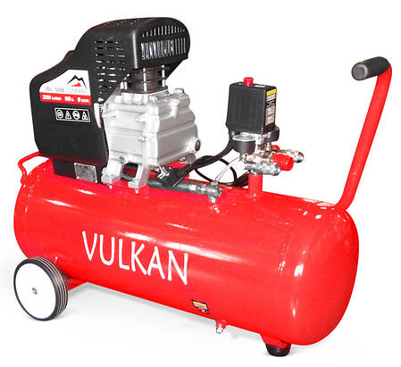 Компрессор воздушный VULKAN IBL 50B 1,8 кВт 50 л 190 л/мин, фото 2