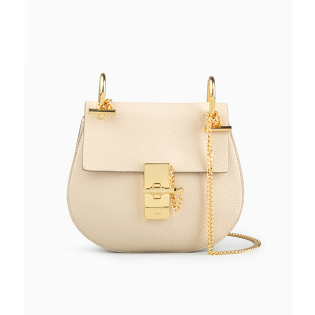 Chloe Drew small bag in grained lambskin abstract white