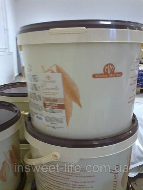 Крем кондитерський білий шоколад Caravella 13кг/відро