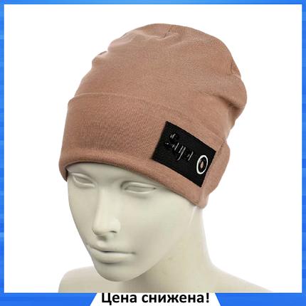 Женская шапка Supr Капучино - молодежная шапка-лопата с отворотом, фото 2