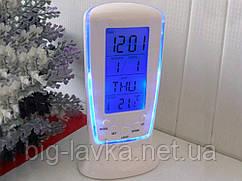 Настольный светильник термометр с подсветкой