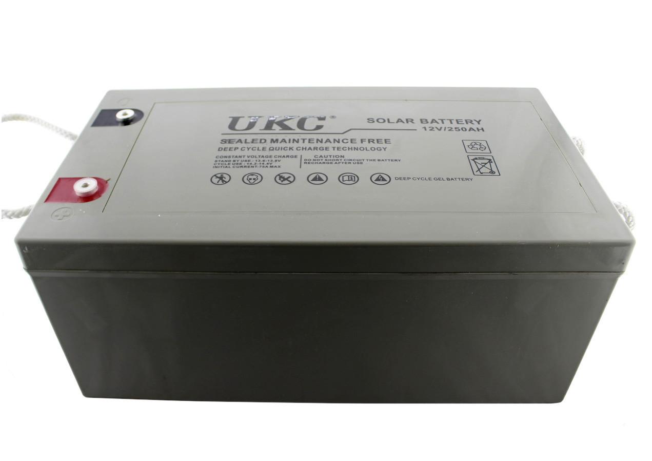 Гелевая аккумуляторная батарея UKC  BATTERY 12V 250A