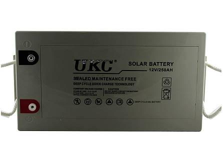 Гелевая аккумуляторная батарея UKC  BATTERY 12V 250A, фото 2