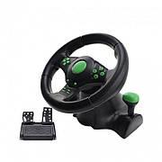 Джойстик руль игровой 3 В 1 Vibration Steering Wheel for PC/PS2/PS3/XBOX