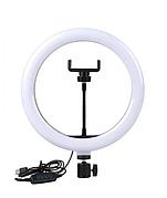 Кільцева LED лампа USB Ring Light 028 діаметр 30см | Кріплення для телефону | Управління на провід