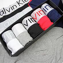 Трусы мужские Кальвин 3шт хлопок, размер XL, коллекция Стил Steel АКЦИЯ на комплект