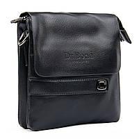 Мужская сумка-планшет Dr.Bond цвет - черный, материал кожзам 15*18*5см ( GL 512-0 black)