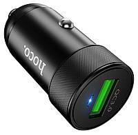 Автомобильное зарядное устройство Hoco Z32 Flash Power Fully Compatible 1USB/18W/4A/QC3.0 Black, фото 1