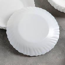 Столовый сервиз из белых волнистых тарелок Luminarc Feston 19 пр (14977), фото 3