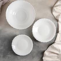 Столовый сервиз из белых волнистых тарелок Luminarc Feston 19 пр (14977), фото 2