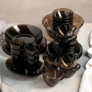 Сервиз столовый из дымчатого стекла с супником Luminarc Амбьянте Эклипс 45 предметов (L5181), фото 2