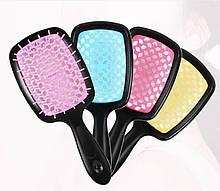 Расческа SUPERBRUSH пластиковая массажная щетка с нейлоновыми зубчиками