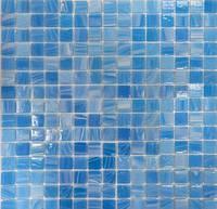 Нежно голубая Стеклянная мозаика YB 06