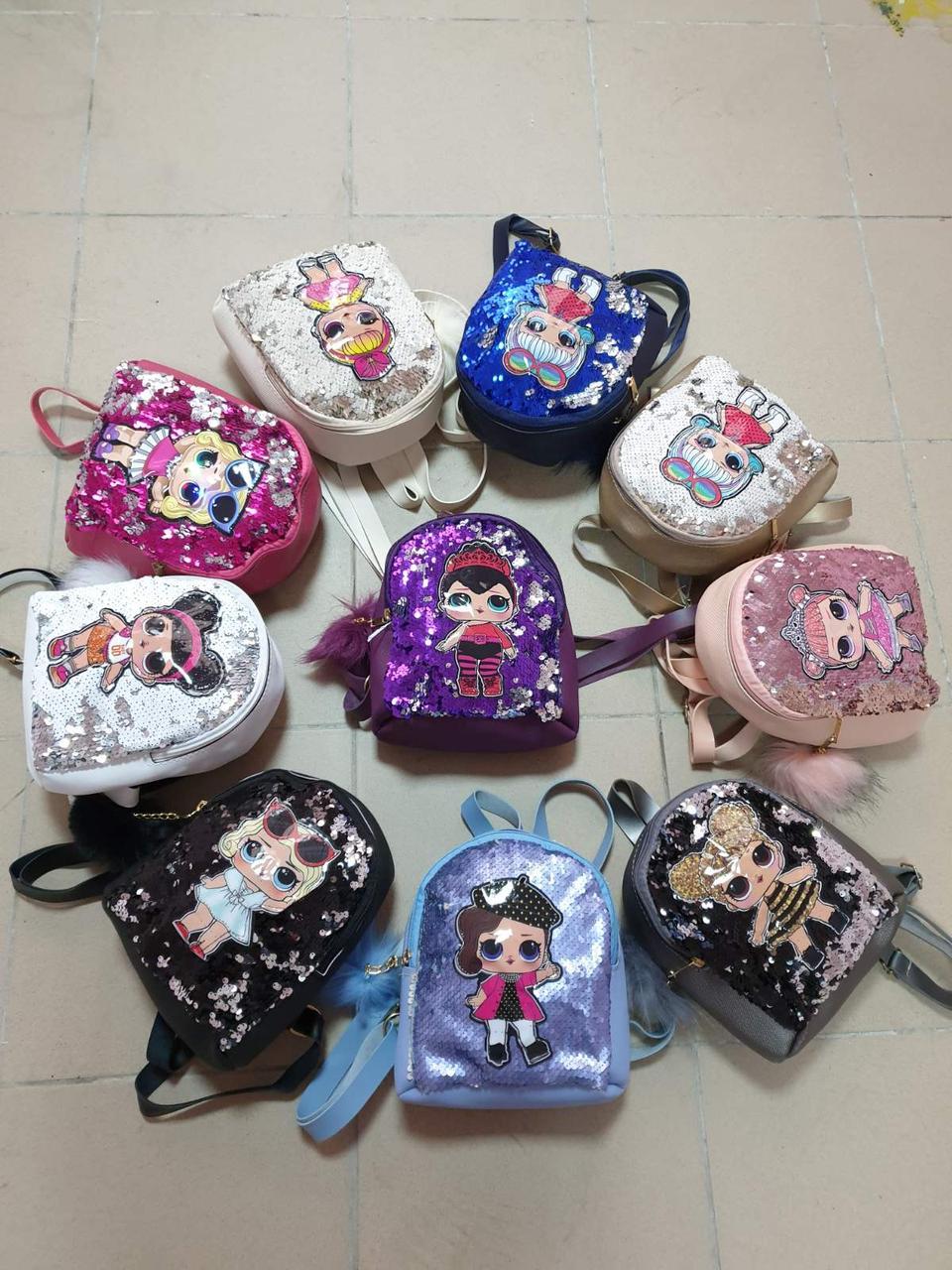 """Дитячий рюкзак міський ергономічна """"Лолі"""" 22 розмір на 18 см (від 3 шт МІКС!)"""