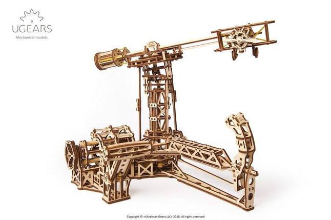 Авиатор UGears (726 деталей) - механический деревянный 3D пазл конструктор, фото 2