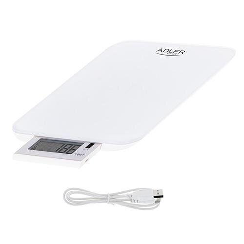 Весы кухонные Adler AD 3167 white USB