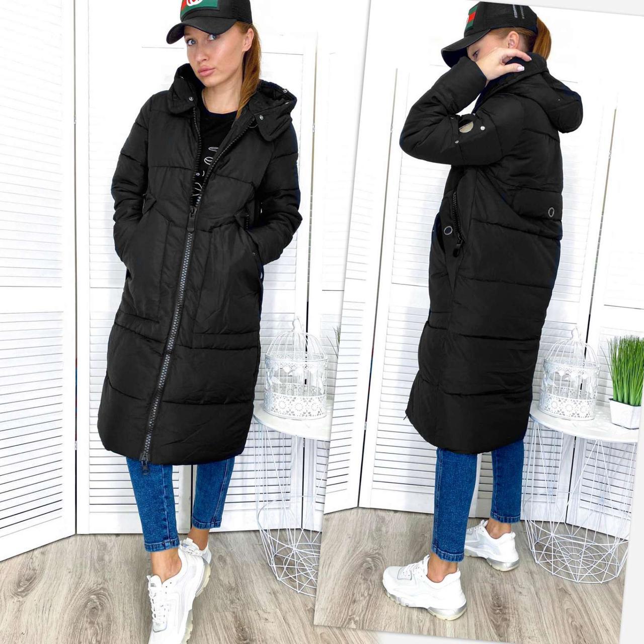 Куртка женская черная зимняя Congyuhong 16283