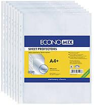 Файл-карман Economix A4+ 30 мкм,глянцевые прозрачные 100 штук Е31106