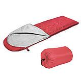 Спальный мешок (спальник) одеяло SportVida SV-CC0050 +2 ...+ 16°C R Red/Grey. Спальник, фото 3