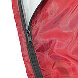 Спальный мешок (спальник) одеяло SportVida SV-CC0050 +2 ...+ 16°C R Red/Grey. Спальник, фото 4