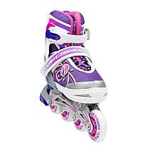 Роликовые коньки Nils Extreme NA1152A Size 39-42 Pink, фото 3