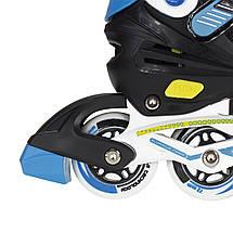 Роликовые коньки Nils Extreme NA1160A Size 31-34 Black/Blue, фото 3