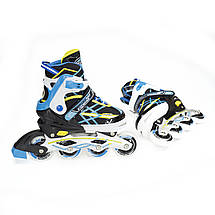 Роликовые коньки Nils Extreme NA1160A Size 31-34 Black/Blue, фото 2