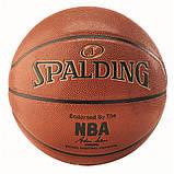 Мяч баскетбольный Spalding NBA Gold IN/OUT размер 7, фото 2