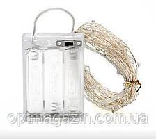 """Гирлянда """"Роса"""" 5 м, белый, 3 режима свечения, на батарейках, фото 2"""