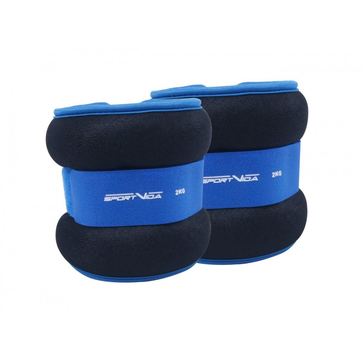Утяжелители для ног и рук SportVida 2 x 2 кг SV-HK0036. Спортивные утяжелители на ноги и руки