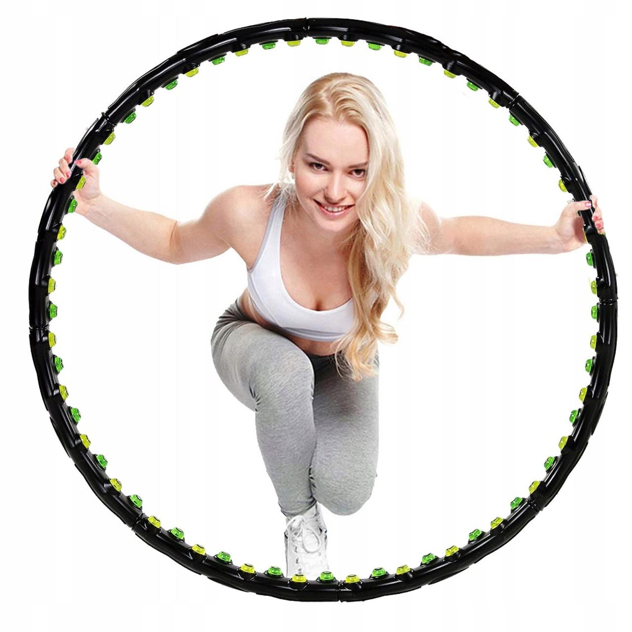 Обруч массажный для похудения с магнитами Springos Hula Hoop 100 см FA0096. Хулахуп, обруч для талии