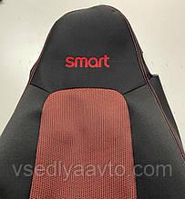 Автомобильные чехлы на сидения SMART Fortwo 451 (черно-красные)