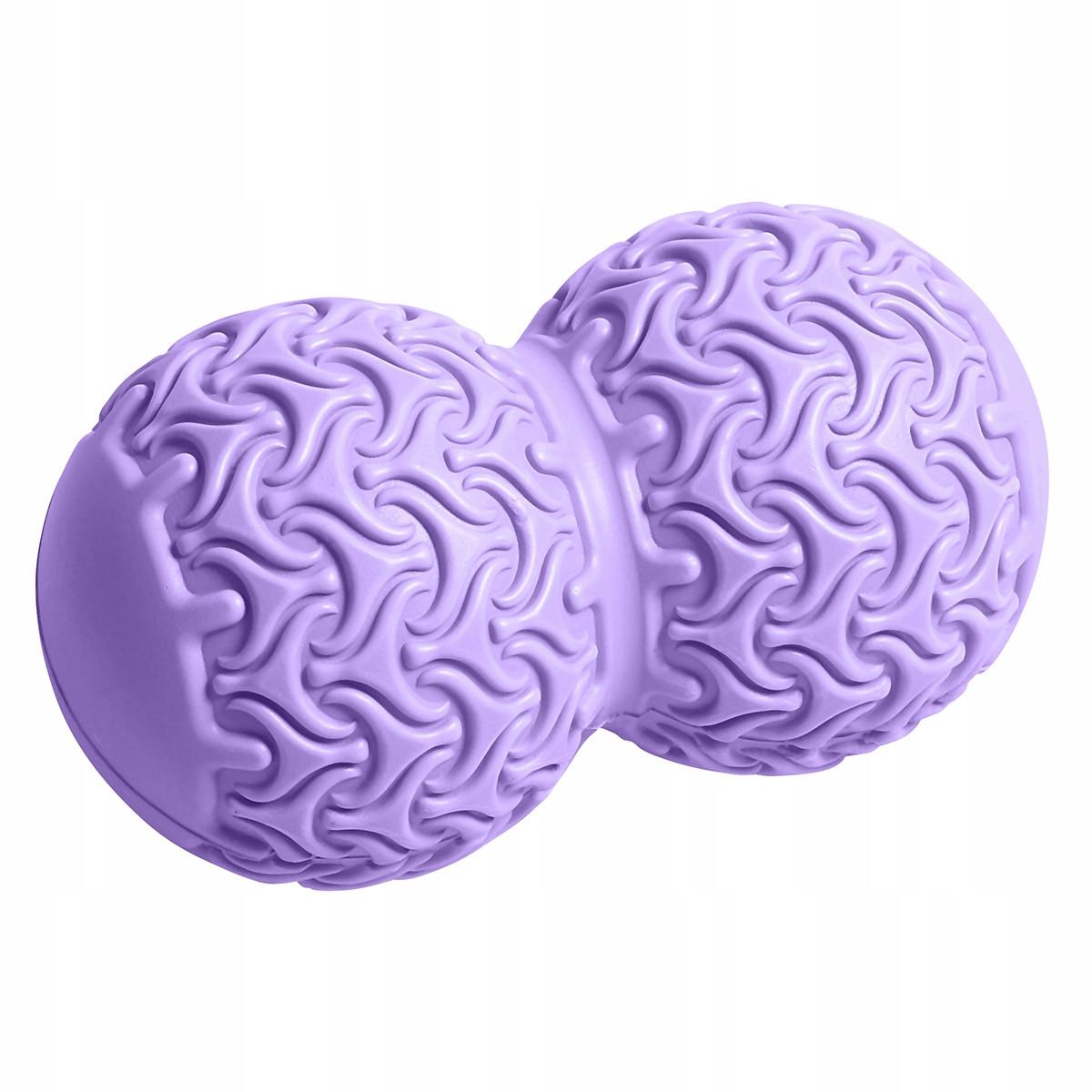 Массажный мяч двойной SportVida Massage Duoball 10 x 18 см SV-HK0235 Purple