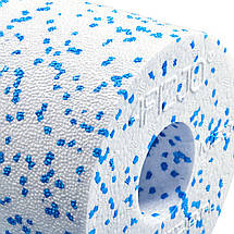Массажный ролик (валик, роллер) гладкий 4FIZJO EPP MED+ 33 x 14 см 4FJ0054 White/Blue, фото 2