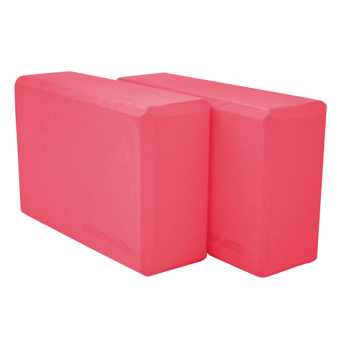 Блок для йоги 2 шт SportVida SV-HK0168-2 Pink. Кирпич для йоги, йога-блок розовый