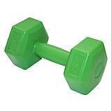 Гантели для фитнеса SportVida 2 x 2 кг SV-HK0218. Гексагональные гантели с пластиковым покрытием, фото 3