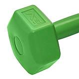 Гантели для фитнеса SportVida 2 x 2 кг SV-HK0218. Гексагональные гантели с пластиковым покрытием, фото 4