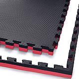 Мат-пазл (ласточкин хвост) 4FIZJO Mat Puzzle EVA 100 x 100 x 4 cм 4FJ0199 Black/Red. Мат-татами, фото 3