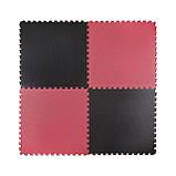 Мат-пазл (ласточкин хвост) 4FIZJO Mat Puzzle EVA 100 x 100 x 4 cм 4FJ0199 Black/Red. Мат-татами, фото 2