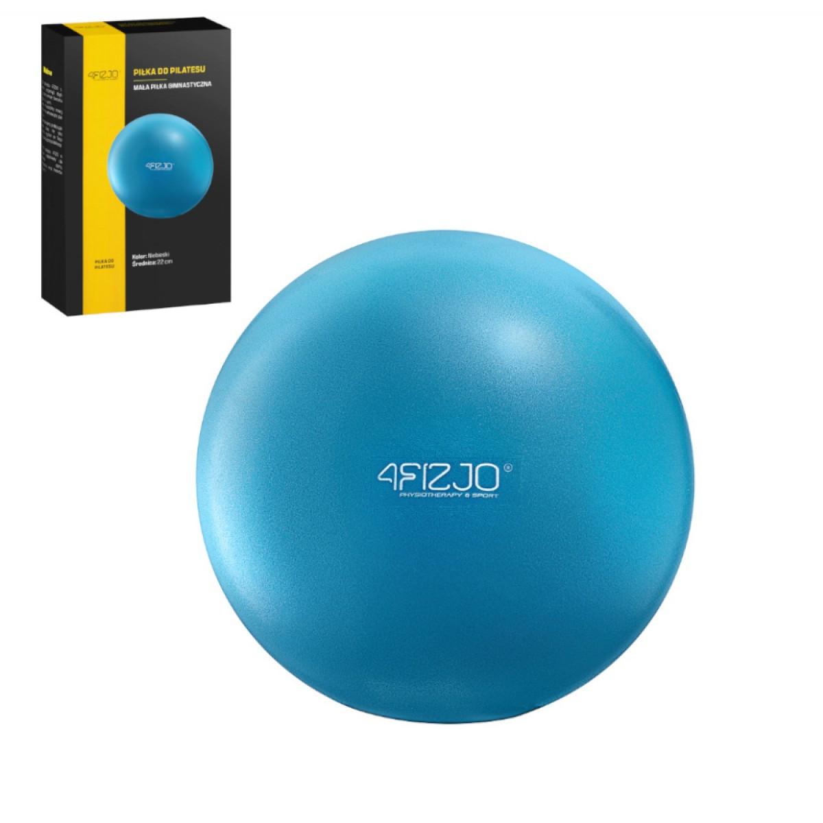 Мяч для пилатеса, йоги, реабилитации 4FIZJO 22 см 4FJ0140 синий. Гимнастический мяч спортивный, шар
